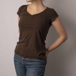 SO 100% Cotton Brown V-Neck T-Shirt